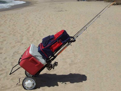 Genji sports foldable fishing cart beach cart new ebay for Folding fishing cart