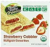 Health Valley Organic Multigrain Cereal Bars, Strawberry Cobbler, 6 Bars (Pack of 6)