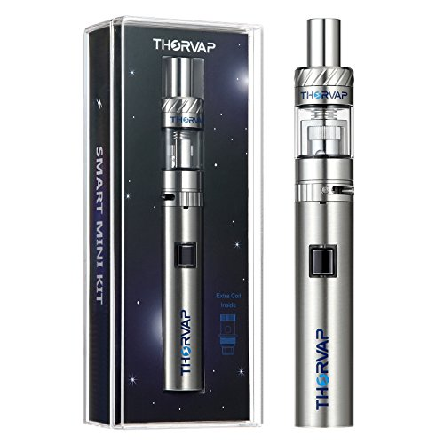 THORVAP E Zigarette ohne Nikotin starterset, Smart Mini sub ohm vaping Set mit 0.5 Ohm OCC Coil Topfill Vaporizer und Micro USB sub ohm akku 900mah