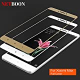 Xiaomi Mi Max Full Coverage Tempered Glass Shield, NETBOON® Original 3D Curved Edge To Edge Screen Protector Full...