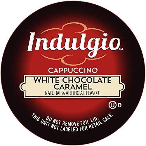 Indulgio Cappuccino, White Chocolate Caramel, 12-Count Single Serve Cup for Keurig K-Cup Brewers (K Hot Chocolate Cups compare prices)