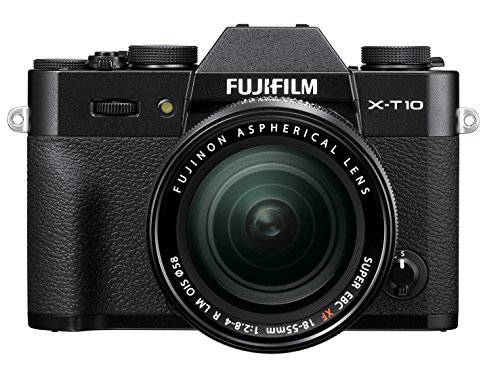 Fujifilm X-T10 Black Mirrorless Digital Camera Kit with XF 18-55mm F2.8-4.0 R LM OIS Lens