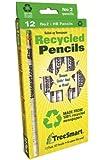 TreeSmart Recycled Newspaper Pencils (12 Pencils)