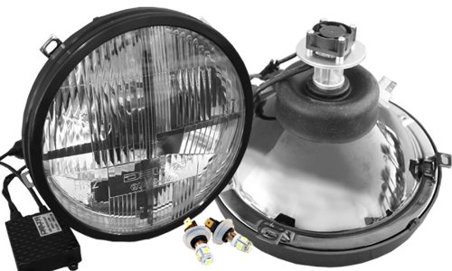6 inch -Chrome LED 2008 International 4000 SERIES-LH Door mount spotlight Driver side WITH install kit
