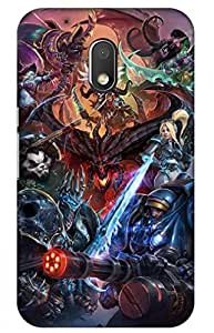 iessential game Designer Printed Back Case Cover for Moto G Play, 4th Gen