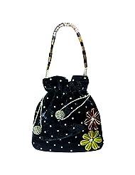 Arisha Kreation Co Party Wear Women's Designer Handbag Potli (Black)