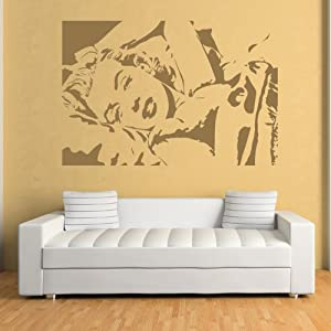 Marilyn Monroe Pegatina de Pared. Arte de Pared Icono disponible en 5 tamaños y 25 colores marca IconWallStickers