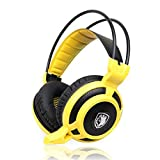 SADES Arcmage PC Gaming Headset Headphone With High Sensitivity Mic For PC/Notebook/Laptop(Yellow)