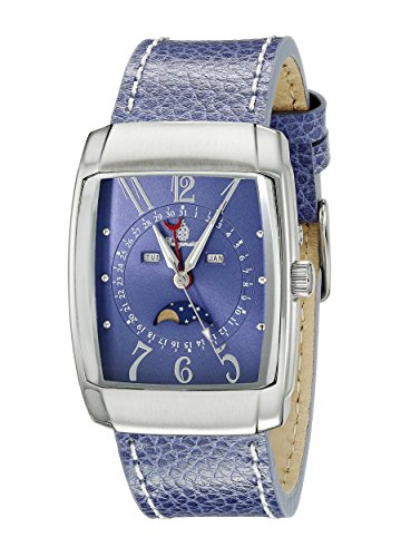 Burgmeister Men's Quartz Watch with Blue Dial Analogue Display and Blue Leather Bracelet BM612-133