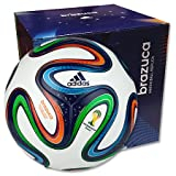 adidas Fußball Brazuca Top Replique X-Mas, White/Night Blue/Multicolor, 5, G73621