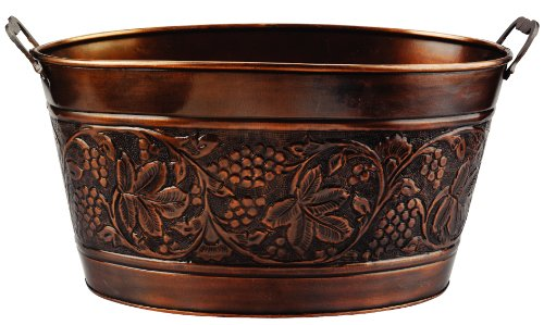 New Old Dutch Embossed Heritage Party Tub, 5-1/2-Gallon, 18 by 10-1/2 by 9-1/2-Inch
