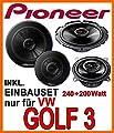VW Golf 3 - Lautsprecher - Lautsprecherset Pioneer - Front von just-SOUND - Reifen Onlineshop