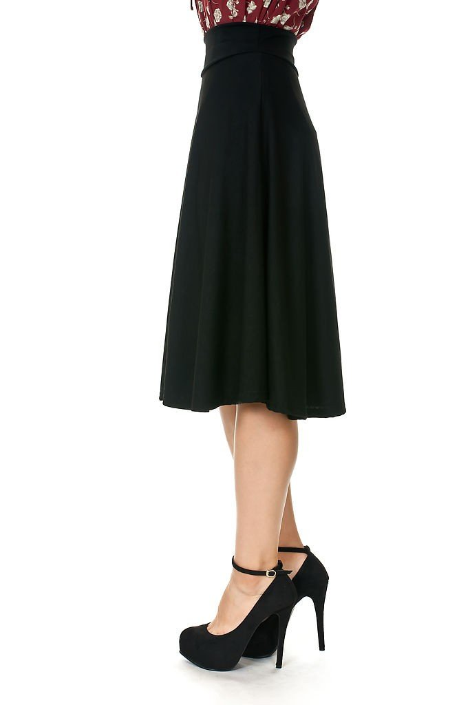 Dani's Choice Stretch High Waist A-line Flared Long Skirt 2