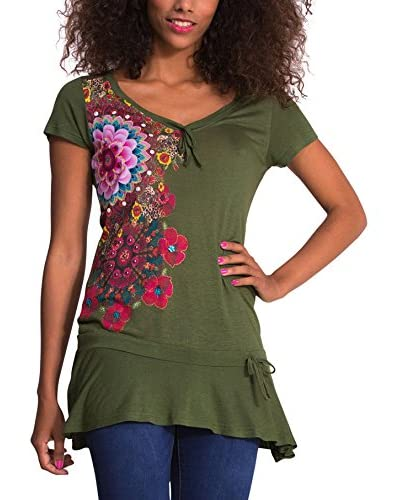 Desigual Camiseta Manga Corta Daniela Verde
