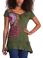 Desigual Camiseta Manga Corta Daniela (Verde)
