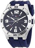 Tommy Hilfiger Watches Herren-Armbanduhr XL DREW Analog Quarz Silikon 1791062