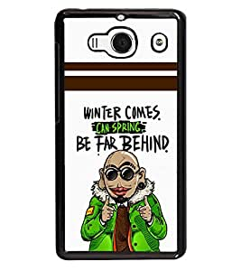 printtech Funny Winter Comes Back Case Cover for Xiaomi Redmi 2S::Xiaomi Redmi 2::Xiaomi Redmi 2 Prime