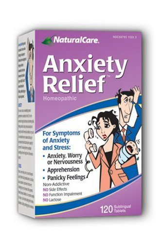 Naturalcare Homeopathic Anxiety Relief Tablets, 120-Count Packages (Pack Of 2)