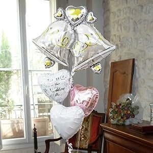 即日発送対応 結婚式 バルーン電報 【ウェディングベル】 ヘリウムガス入り4個 11051