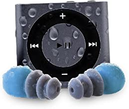 Waterfi Waterproof Apple iPod Shuffle with Short Cord Waterproof Headphones (New Model) (Space Grey)