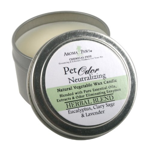 Aroma Paws Pet Odor Neutralizing Natural Vegetable Wax Candle, Herbal Blend