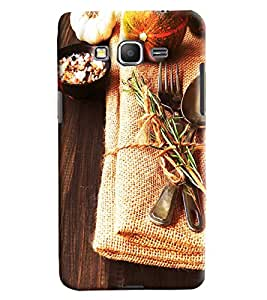 Blue Throat Food On Jute Hard Plastic Printed Back Cover/Case For Samsung Galaxy Grand Prime