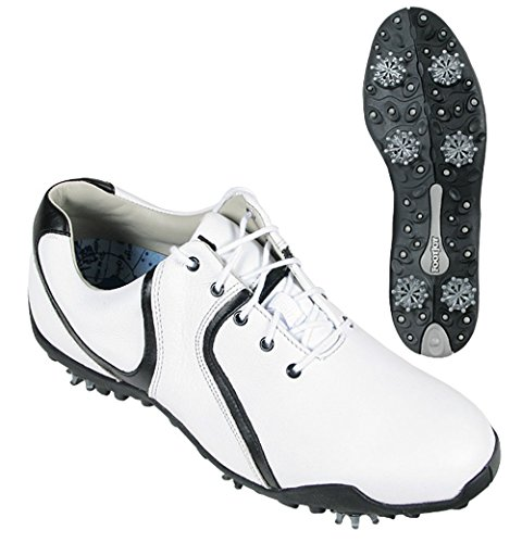 Footjoy Ladies FJ Lopro 97107 6.5 Wide – White/Black
