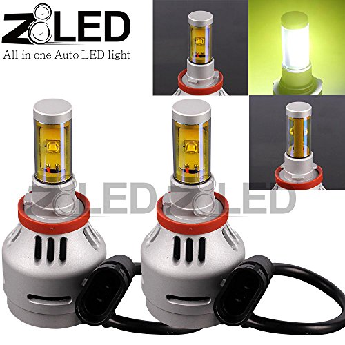 Z8 2X New Direct Plug Error Free Led H11 4000 Lumen 3000K Head Light Fog Lamp Cree Xm 2L Chip All-In-One Z8Led 3Gh113000K
