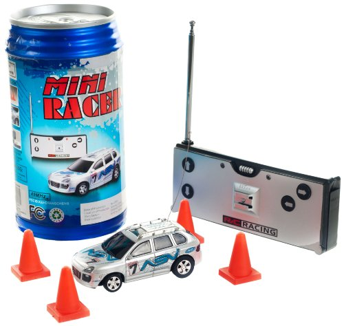 Review: R/C Racing Mini Racer Remote Control Car in a Can - Blue  Review