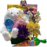 Everybunny's Favorite Easter Gift Basket with Plush Bunny Rabbit