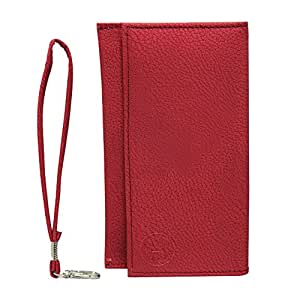 Jo Jo A5 G8 Leather Wallet Universal Pouch Cover Case For Magicon Q7 Red