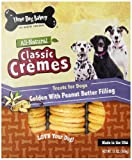 Three Dog Bakery 13-Ounce Classic Cremes Golden with Peanut Butter Filling Baked Dog Treats