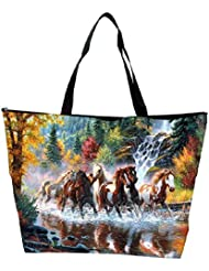 Snoogg Abstract Art Of Horse Designer Waterproof Bag Made Of High Strength Nylon