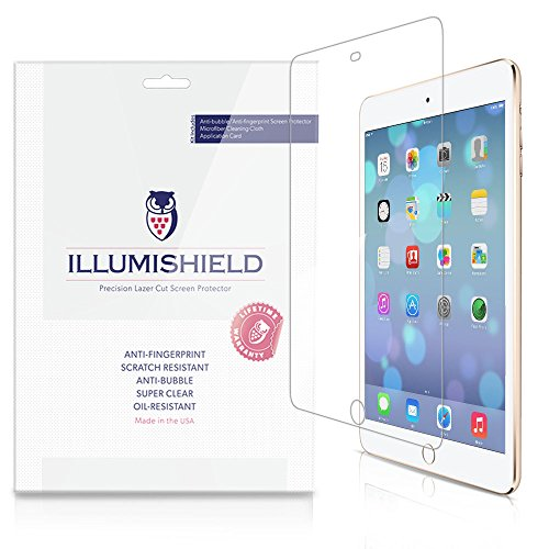 Illumishield - Apple Ipad Mini 3 Screen Protector (2014) (3Rd Generation) With Lifetime Replacement Warranty - Japanese Ultra Clear Hd Film With Anti-Bubble And Anti-Fingerprint - High Quality (Invisible) Lcd Shield - [3-Pack] Oem / Retail Packaging (3Rd