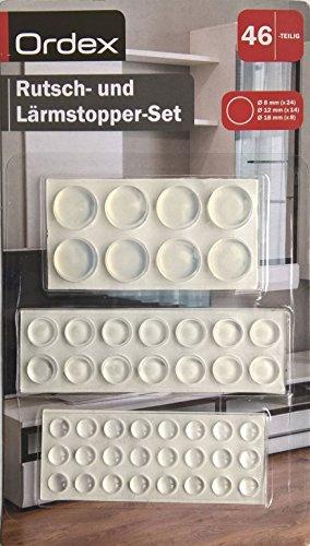 ordex-rutsch-und-larmstopper-set-46-selbstklebende-rutschstopper-larmstopper-elastisch-dreiformatig-