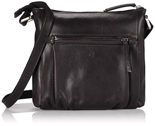 Marc O'Polo CROSSBODY BAG M, Borsa shopper donna, Nero (Nero (black 990)), 40x36x13 cm (B x H x T)