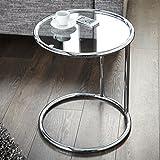 beistelltisch neu tisch couchtisch chrom kaffeetisch klein rund glastisch glas. Black Bedroom Furniture Sets. Home Design Ideas