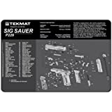 TekMat 11-Inch X 17-Inch Handgun Cleaning Mat with Sig Sauer P229 Imprint, Black
