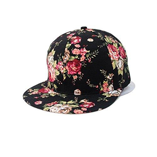 Glamorstar Women S Floral Flower Snapback Hip Hop Cap
