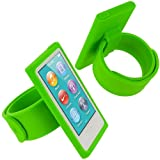 Neon Green Armband Sport Gym Watchband Silicone Rubber Gel Soft Skin Case Cover for Apple iPod Nano 7th Generation 7G 7