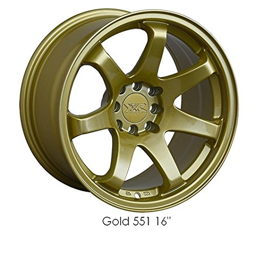 XXR 551 17 Gold Wheel / Rim 5x100 & 5x4.5 with a 36mm Offset and a 73.1 Hub Bore. Partnumber 551781070 (Gold Rims compare prices)