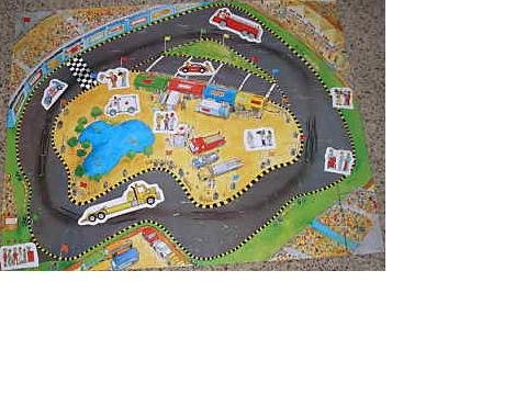 Cheap Frank Schaffer Racetrack Giant Floor Puzzle (B00264JE3M)