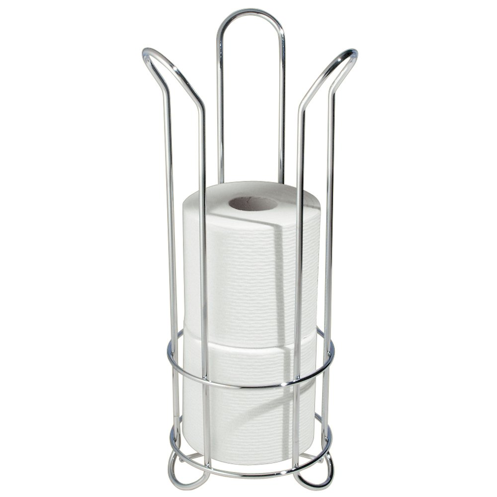 Toilet Tissue Holder Stand Roll Reserve Storage Bathroom Kitchen