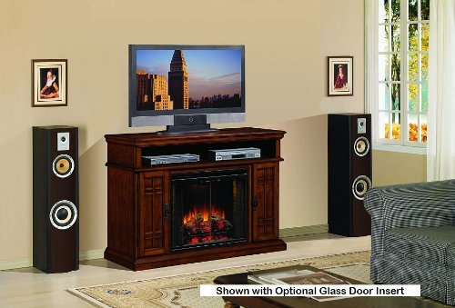 ClassicFlame Carmel 1,000 Sq. Ft. Infrared Electric Fireplace Media Cabinet in Pecan Cherry - 28MM764-C253 photo B00CMAUO9I.jpg