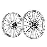 Kingway JS2C Zipp Bike Alloy Wheel Set of 2 19/19 Inch Silver CNC-Royal Enfield Electra