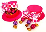 Bright Pink Bonnet Hat Reusable Trinket Box with a Dozen Assorted Godiva Truffles
