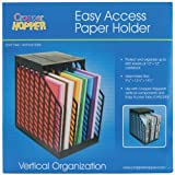 Advantus Cropper Hopper Easy Access Paper Holder, Black