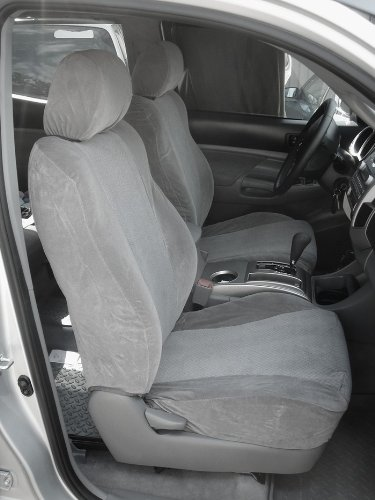 Durafit Seat Covers TC6-V7 2009-2011 Toyota Tacoma Double Cab TRD Exact Seat Covers in Gray Automotive Velour (Tacoma Seat Covers Trd compare prices)