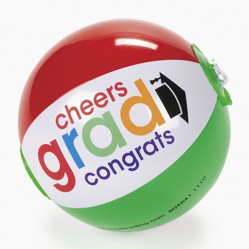 "7"" CHEERS GRAD MINI BEACH BALL (1 DOZEN) - BULK by Fun Express"