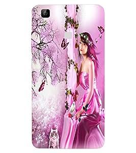 ColourCraft Lovely Angel Design Back Case Cover for VIVO V3 MAX